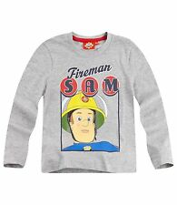 Boys Kids Official Licensed Disney Various Character Long Sleeve T Shirt Top Fireman Sam (navy) 3 - 4 Years