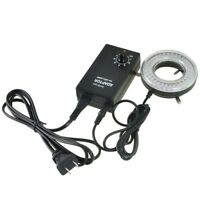 AmScope LED-64-ZK 64-LED Microscope LED Ring Light with Adapter