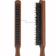 Qu_ JW_ Professional Three Rows Wooden Handle Salon Comb Hair Teasing Bristle Br