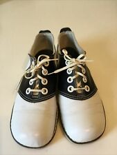 Vintage 1950's QualiCraft Town & Country Saddle Shoes Black White Sz. Ladies 7.5