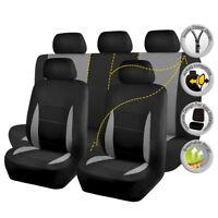 Universal Car Seat Cover set Truck SUV Black grey Split 40/60 50/50 60/40 Airbag