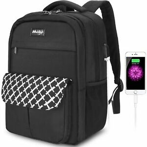 Laptop Backpack USB Charging Anti-theft 17 Inch Waterproof Notebook Travel Bag