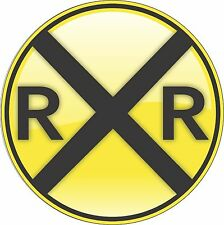 "RailRoad Crossing 8"" Circle Aluminum Metal Sign"