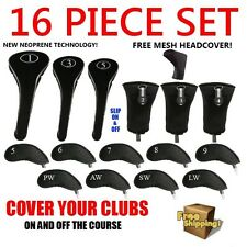 New Neoprene Driver Woods Hybrids Irons Golf Club Headcovers Set Head Cover