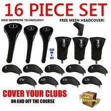 New Neoprene Driver Woods Hybrids Irons Golf Club Headcovers Set Head Cover