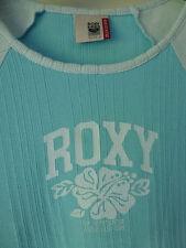 Roxy Quiksilver 3/4 Longitud Manga Señoras Camiseta Talla 3 Brillante Azul/Azul Claro