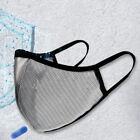 Air Nano Mesh Mask Washable Reversible Easy Breathable semi-transparent Sports