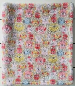 """Blankets & And Beyond Pink Owl Baby Blanket Sherpa Polyester 32"""" x 28"""" Yellow"""