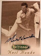 1995 FUTERA HERITAGE CRICKET COLLECTION CARD N0 54/60 SIGNED NEIL HAWKE
