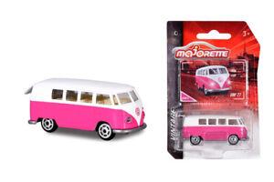 NEW Majorette Vintage VW Volkswagon TI Pink Bus Kombi 1:59 Scale