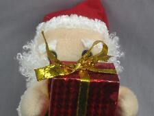 RED SUIT SANTA CLAUS GIFT BOX JEWELRY CURLY BEARD PLUSH STUFFED ANIMAL TOY