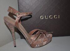 NIB $1,650+ Gucci Peach Sofia Platform Sandal Heel Shoes Sz 38.5 / 8.5