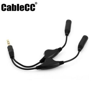 Cablecc 3.5mm Stereo Male to Double 3.5mm Female Audio Headphone Splitter Cable