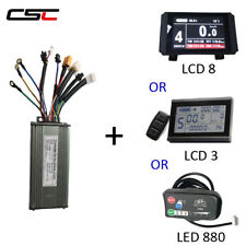 Ebike 36/48V 250/350/500W Electric bike 9 Mosfet Sine Wave Controller+ display