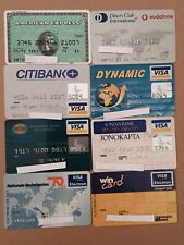 8 Expired Credit Cards For Collectors - MasterCard - VISA Lot (#7)
