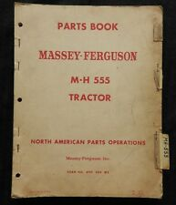 1958-61 MASSEY HARRIS FERGUSON M-H 555 MH555 TRACTOR PARTS CATALOG MANUAL GOOD 1