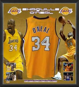 SHAQUILLE O'NEAL HAND SIGNED LOS ANGELES LAKERS JERSEY NBA BASKETBALL KOBE