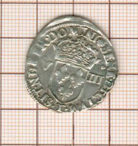 huitième d'écu au marteau Henri III 1587 T Nantes
