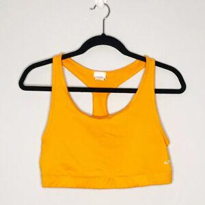 Champion Workout Bra Size XL Bright Orange Compression Support Gym Yoga Active