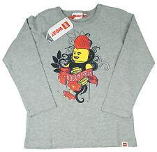 Lego Shirt Langarm Pulli Pullover grau Junge Größe 128  Neu 8 Jahre