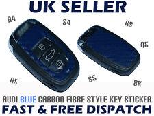 Audi A4 A5 S4 S5 8K RS Q5 BLUE Carbon Fibre Caron Fiber Car Key Sticker Decal