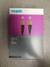 Maplin BNC Cable 5m, CCTV Ready! Gold Plated Connectors!