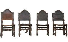 Série de 4 chaises d'époque XVIIIème en noyer
