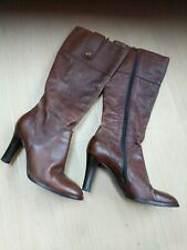 River Island chestnut Brown size 6 knee-high boots Leather