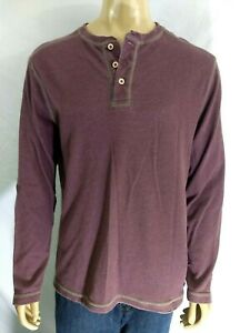 TOMMY BAHAMA Jeans Casual LS Purple Shirt Mens Large Cotton Blend Modern Fit