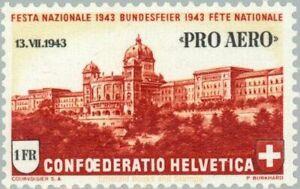 "EBS Switzerland 1943 - Special mail flight ""Pro Aero"" - Michel 422 MNH**"