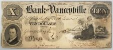 1856 Bank of Yanceyville, Ten Dollars paper note! Hand numbered and signed!