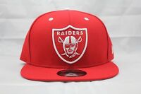 NEW ERA 9FIFTY SNAPBACK HAT.  NFL.  RAIDERS. RED.