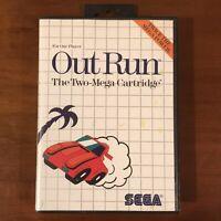 Outrun (Sega Master System SMS) Cartridge & Case - TESTED WORKS!!!
