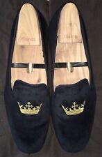 Church's Men's Sovereign Crown Black Velvet Loafer With Shoe Trees Bags Size 9.5