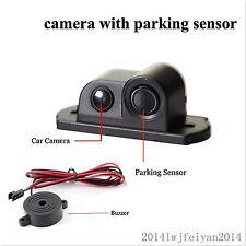 2in1 Car SUV Reverse Parking Radar & Rear View Backup 120° Wide Angle Camera Kit