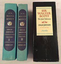 Sir Walter Scott The Great Unknown - Edgar Johnson 2 Vol Slipcase 1970 1st Pr.