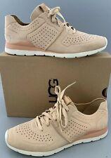 UGG Australia TYE LEATHER Sneaker Shoes Women US8 EU39 $140 Soft Ochre