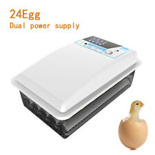 24Egg Incubator Auto Turning Digital Temperature Control Chicken Poultry Hatcher