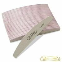Nail Files 5 Pcs Shoponds Double Sided Emery Board (100/180 Grit ) professional