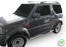 Suzuki JIMNY 2005-2015 3DOOR Side bars CHROME stainless steel side steps