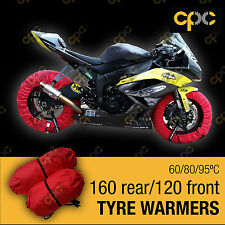 Red Motorbike tyre warmer set front rear race track motorcycle tire warmers D3