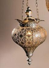 Hänge-Windlicht Laterne Kerzenhalter orientalisch Orient Silber Hängeleuchte NEU