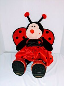 """Build A Bear Love Bug Lady Bug 18"""" Plush Toy with outfit Dress Shoes"""