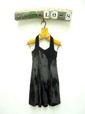 Patternless Halter Neck Velvet Sleeveless Dresses for Women