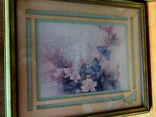 Home Interior Pair of Butterflies on peach tree flowers/