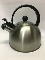 COPCO METAL TEA POT KETTLE SILVER Brushed Stainless Look