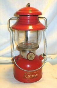 VTG 1955 RED  COLEMAN 200A LANTERN 6 55