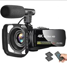 4K Camcorder Video Vlogging Camera Recorder with Microphone 30MP 3