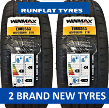 2 1955516 RUNFLAT 195 55 16 New Tyres x2 High Performance 195/55 R16 RFT