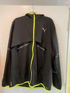 Puma running jacket drywall large back/yellow hooded used